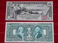 """BEAUTIFUL 1896 $1 """"EDUCATION"""" SILVER CERTIFICATE COPY READ DESCRIPTION"""