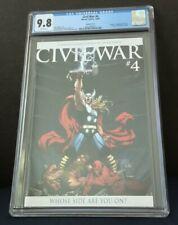 CIVIL WAR #4 CGC 9.8 MARVEL COMICS 10/06 VARIANT THOR COVER