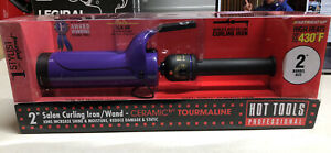 HOT TOOLS Curling Iron Wand - 2 Inch Ceramic Tourmaline Salon Curling Iron/Wand