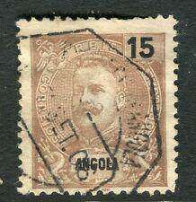 PORTUGUESE ANGOLA;  1898 early Carlos issue fine used 15r. value