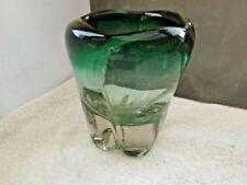 Green Retro British Art Glass Vase