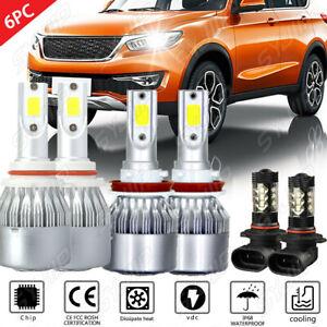 6PC 8K LED Headlight+ Fog Light For Dodge Ram 1500 2500 3500 4500 5500 2009-2017