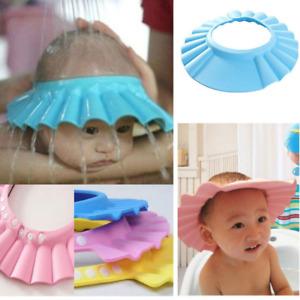 Baby Shower Cap Shield Waterproof Bath Hat Adjustable kids Shampoo Hair Wash