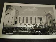 Vintage University Church of Christ Ellison Austin RPPC Photo Postcard