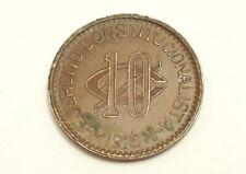 Coin Mexico Revolution 10 Centavos Chihuahua 1915 Copper