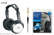 JVC Over Head/Ear Dynamic Sound Full Size Black & Silver DJ Headphones HA-RX500