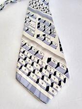 "Steven Harris Mens  Black Creme Keyboard Theme Polyester  Neck Tie 62.5"" x 3.5"""