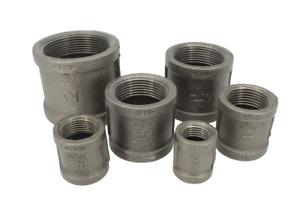 "Black Malleable Iron Sockets 15mm - 50mm (1/2"" - 2"")"