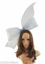 Dusky Blue Fascinator Hat for weddings/ascot HEadband B2