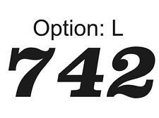 3 Custom Racing Number Plate Vinyl Decals **12 Colors 26 Fonts** MX ATV Go Kart