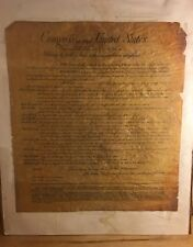 Vintage PRINT John Adams' 12 Articles (Bill Of Rights) To Congress Late 1700's