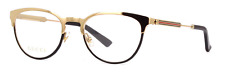 *NEW AUTHENTIC* GUCCI GG0134O 001 GOLD EYEGLASS FRAME SIZE 52mm