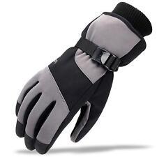Winter Ski Gloves,Men Thermal Gloves, Waterproof Windproof Touch Screen(M, Grey)