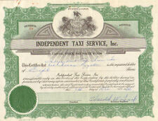 Independent Taxi Service, Inc > 1966 Pennsylvania stock certificate share