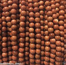 4mm Galaxy Staras Gold Sand Sun Sitara Loose Bead 15''