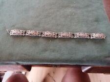 ancien bracelet en argent et marcassites