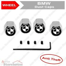 BMW Anti Theft Tyre Valve Dust Caps - [Black & White] - 1 2 3 4 5 6 7 X Z Series