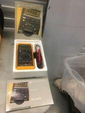Fluke 87 Industrial True Rms Digital Multimeter Probes Hook Clips Bad Screen