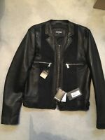 Dsquared2 leather and seude jacket bnwt