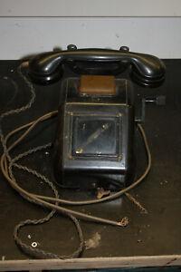 OB33 Kurbeltelefon Ortsbatterie-Telefon Kurbelinduktor vermutlich DB oder RB