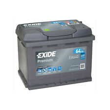 1x Exide Premium 64Ah 640CCA 12v Type 027 Car Battery 4 Year Warranty - EA640