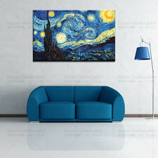 Starry Night by Vincent Van Gogh Giclee Fine Art Print on Canvas (No Frame)