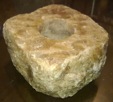 """Collezionismo/Minerali/Fossili/Cristalli """" PORTA CANDELE IN CALCITE MARRONE """""""