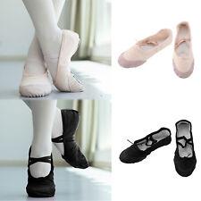 Ballet Canvas Dance Yoga Fit Gymnastic Shoes Adult's&Children's Size-UK STOCK