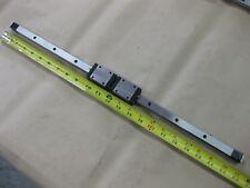 "IKO Linear Guide LM Rail Carriage 2 Bearing Blocks 22.75"" 580mm LWES15SL Japan"