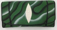 Green Genuine Stingray Clutch Wallet - FREE PRIORITY SHIPPING!!!