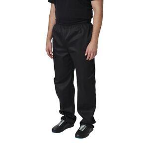Whites Vegas Chef Trousers Polycotton Black - L [A582-L]