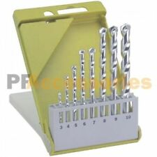 "8 Pcs Masonry Drill Bit Set 1/8"" to 3/8"" M2 Carbide Tip Concrete Brick Tile Case"