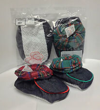 Baby Boys Girls Denim Padder Trainer Booties Shoe Slippers Non Slip Shoes Size