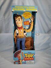 Vintage Disney Toy Story Pull-String TALKING WOODY Thinkway1995 NIP