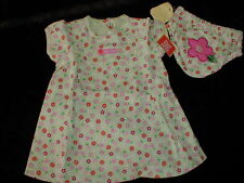 """NWT Green Floral CARTER's """"Flower Child"""" Dress/bloomers 6 mo Spring Green NEW"""