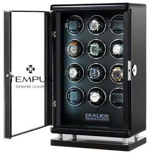 Watch Winder for 12 Automatic Watches with Bio Metric Technology by Tempus