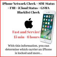 iPhone Carrier Check + SIM Status + FMI + iCloud Status + Blacklist Check