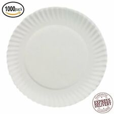 Disposable White Paper Plates Picnic Dinner Party Microwavable Recyclable 1000ct