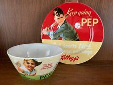 Vintage Kellogg's Pep Cereal Bowl and Plate 2006