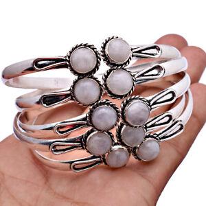 Moonstone Rose Quartz & More Ethnic Jewelry  Handmade Cuff Bangle Bracelets