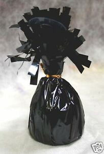 Balloon Weights BLACK Foil birthday party favors 6.2 oz