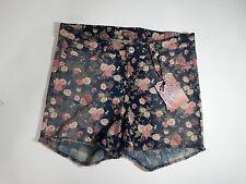 Womens shorts size 18 Breaker Jean Shorts Blue W Pink Floral Pattern Sz 18