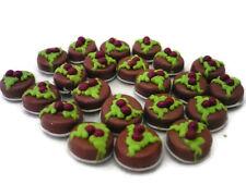 20 Loose Cupcake Cherry Top Dollhouse Miniatures Food Bakery Deco