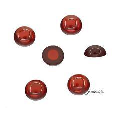10 Lab CZ Cubic Zirconia Round Cabochon 6mm Garnet Red #92015