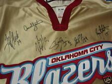 TEAM AUTOGRAPH Oklahoma City OKC BLAZERS Hockey Jersey