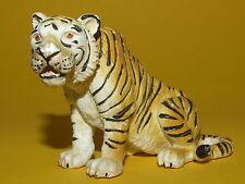 6) Schleich Schleichtier - Tiger sitzend 14096 bespielt
