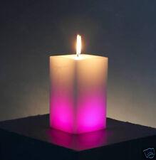 Lot de 4 bougies ARC EN CIEL lumineuses Ambiance fêtes Décorations Couleur NEUVE
