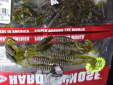 """Mann's HardNose 2"""" Tiny Grubs HNCTG2-06 in (WATERMELON RED) for Trout/Crappie"""