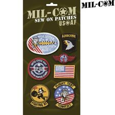 MIL-COM EMBROIDERED USA BADGES X7 FLAG AMERICAN TOP GUN KIDS SEW ON ARMY PATCH