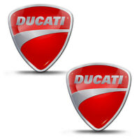 2 x Domed Stickers Decals Ducati Motorcycle Bike Tank Wheel Helmet Car KS 120